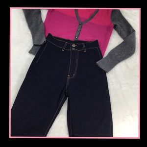 ANGRY RABBIT SUPER HIGH WAISTED DENIM JEANS 27/5